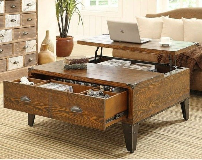 Les 25 meilleures id es concernant table basse relevable - Table basse relevable en bois ...