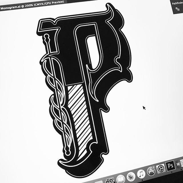 P monogram/logomark! ♠ #illesso #customtype #customlettering #customtypography #goodtype #thedailytype #type #typism #typegang #typespot #typography #typematters #brushtype #handtype #handdrawn #handmadefont #letters #lettering #letteringdesign #illustration #illustrated #font #design #script #sketch #drawing #thefinelab #todaystype