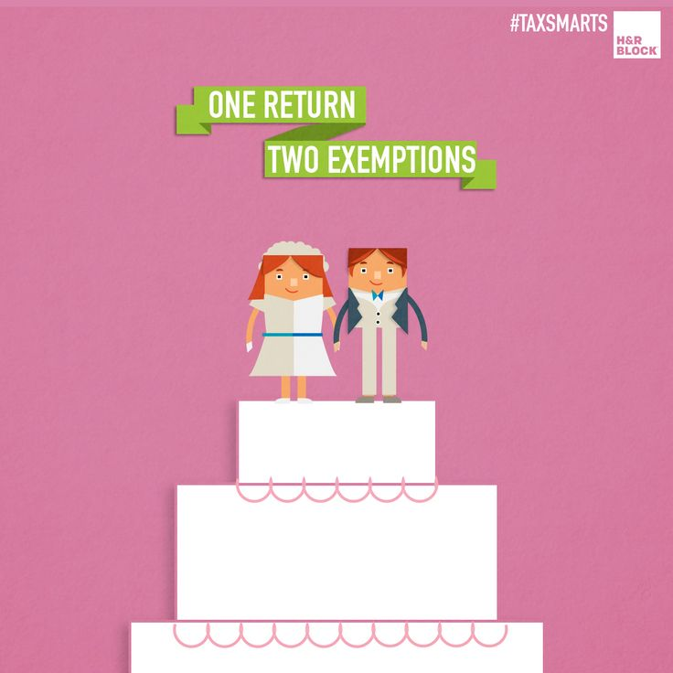 How Getting Married Affects Your Taxes: Married couples filing a joint return get to claim two personal exemptions (one for each of you) on the tax return instead of the one exemption allowed when you filed as a single individual. Additionally, the standard deduction allowed on the tax return is highest for married couples filing a joint return. Pin for more #TaxSmarts.