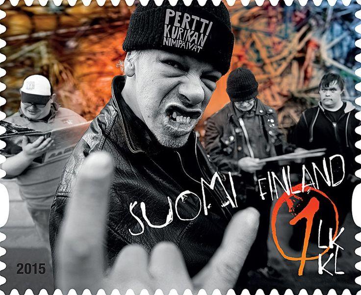 Pertti+Kurikan+nimipäivät+postimerkki+2015+Suomi+Finland. Eurovision Song Contest 2015 PKN