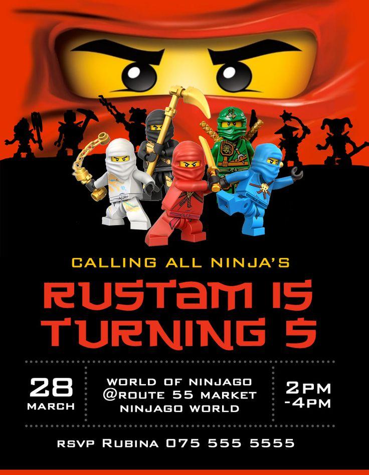 Ninjago invitation