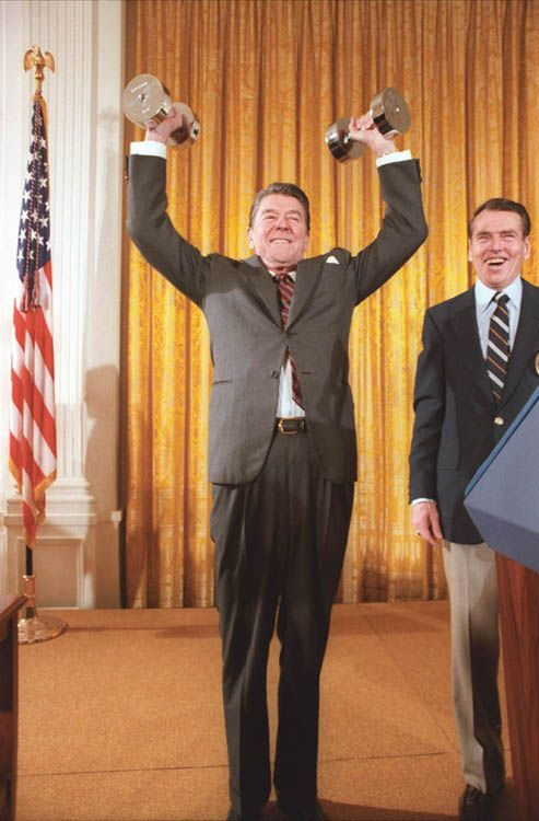 When Reagan proved he was Iron Man. | Ronald Reagan's 31 Most YOLO Moments