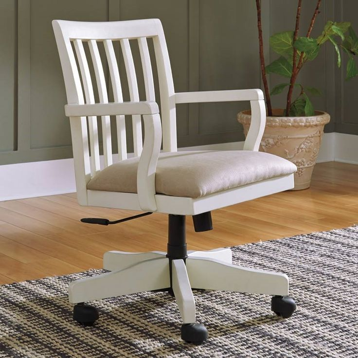 The Sarvanny Home Office Desk Chair Rolls Out Best In Cottage Chic Charm Wood