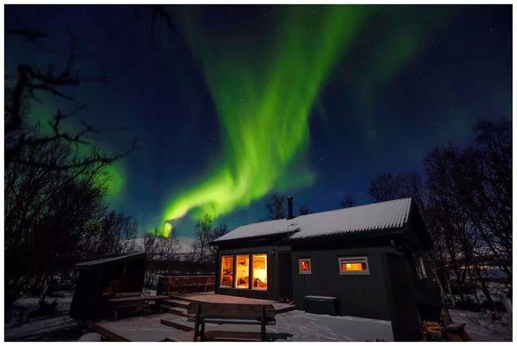 Et villt utbrudd Aurora Borealis  sist weekend på Kvaløya. Det kom helt plutselig og var over etter fem minutter.