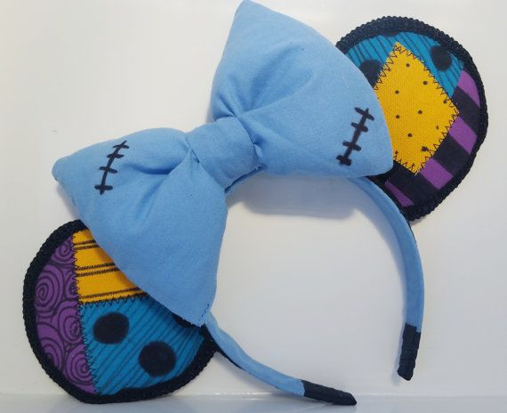Nightmare before christmas minnie ears sally ragdoll halloween. Hey, I found this really awesome Etsy listing at https://www.etsy.com/listing/231883278/nightmare-before-christmas-minnie-ears
