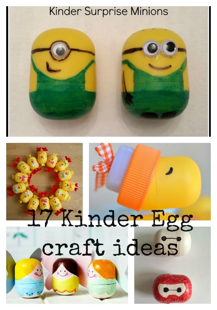 17 Kinder Egg craft ideas - Baymax, Minions, Tooth Fairy, Christmas baubles