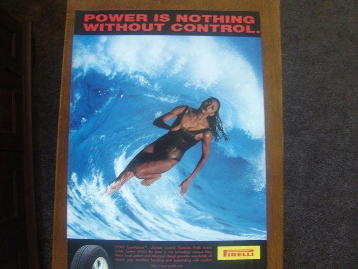 Pirelli Tires Original Magazine Advertisement