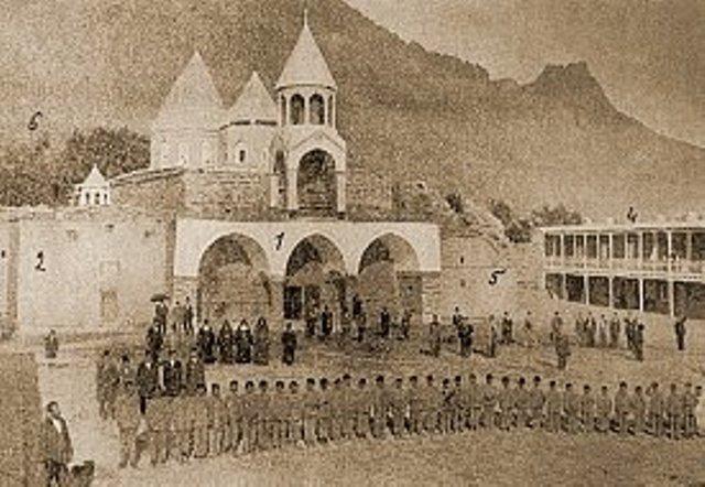 Van, Başkale Varak-Varagavank ermeni Manastırı. 1900 'lü yıllar...
