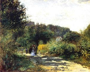 A Road In Louveciennes  Pierre Auguste Renoir