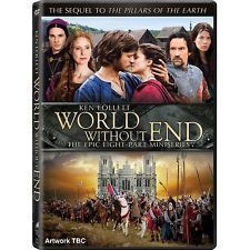 World Without End. The complete mini-series. The sequel to Pillars Of The Earth.    England is on the brink of a devastating war with France that will last over a hundred years. A terrible plague which will wipe out a third of Europe's population before it is done is spreading. $39.99
