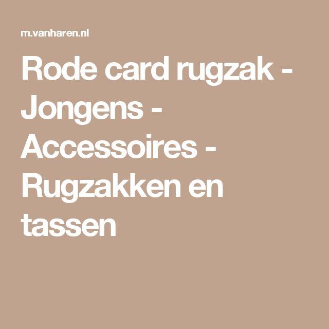 Rode card rugzak - Jongens - Accessoires - Rugzakken en tassen
