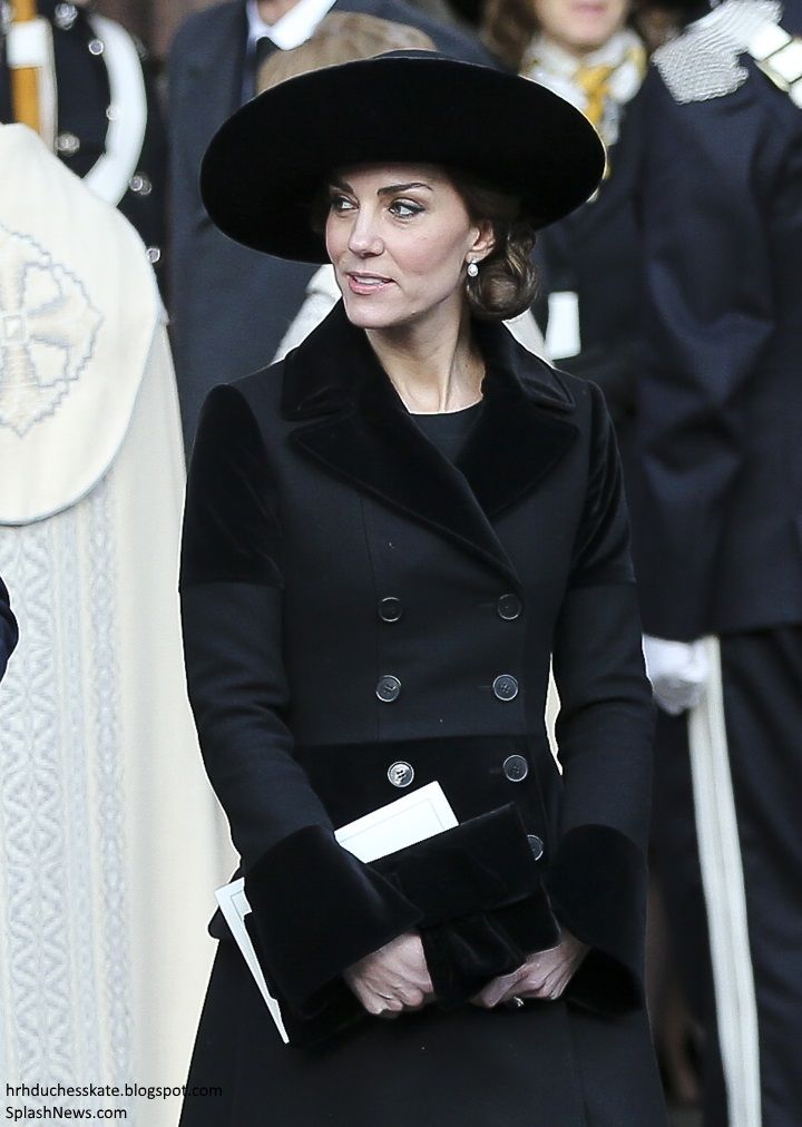 Catherine, Duchess of Cambridge attends the memorial service of The Duke of Westminster at Chester Cathedral on November 28, 2016 in Chester, England.