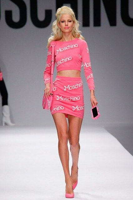 Moschino Barbies-This two piece though! #moschino #barbie