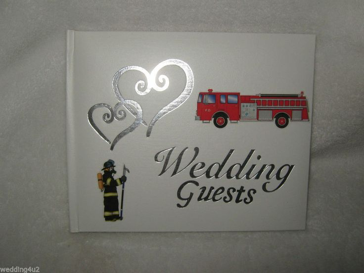 WEDDING FIREMAN FIREFIGHTER FIRE TRUCK HOSE GUEST WHITE CHOICE