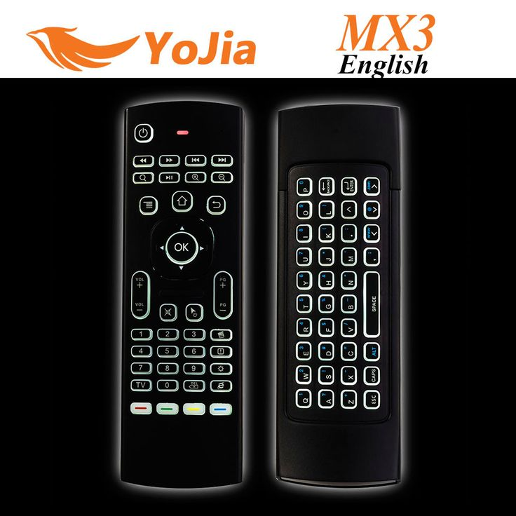 Newest MX3 Air Mouse Backlight MX3 Wireless Keyboard 2.4G Remote Control IR Learning Fly Air Mouse Backlit For Android TV Box PC
