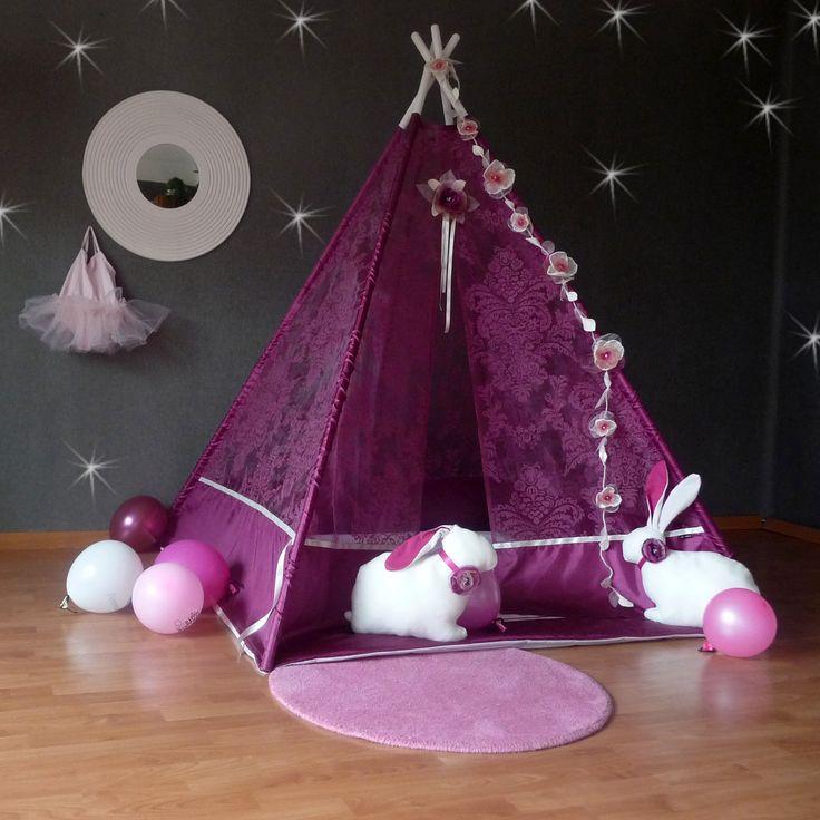 Teepee  PINK Princess (stan,tyče,deka,králíci)