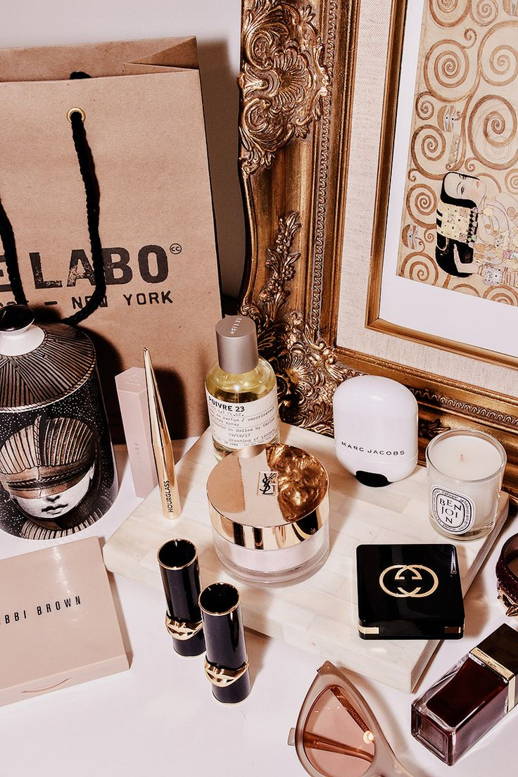 Le Labo Fornasetti Fenty Beauty Hourglass Cosmetics YSL Beauty Marc Jacobs Highlighter Benjoin Diptyque Candle Bobbi Brown Face Palette Luxury Beauty and Makeup Lover's Vanity