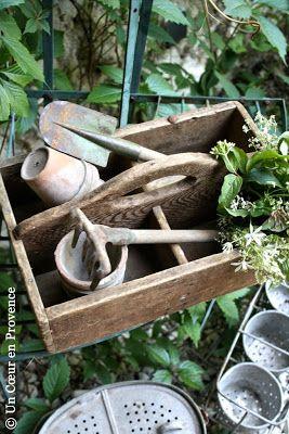 Old tool & nail boxes make great garden totes!