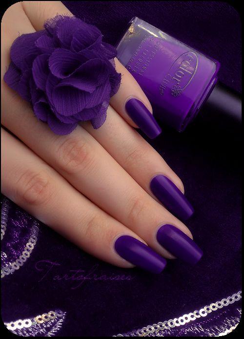Purple:  Purple nails.