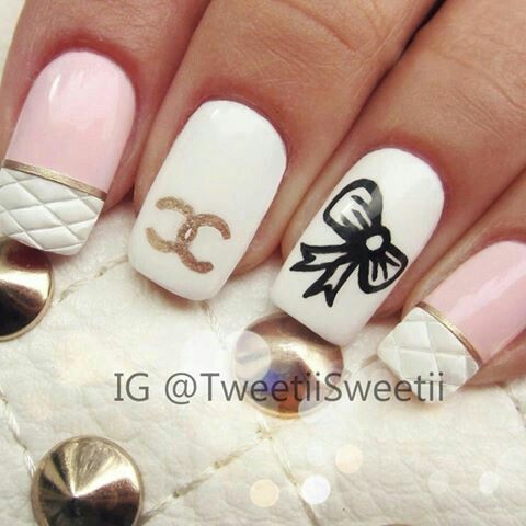 Channel nail art!!!!!!!!