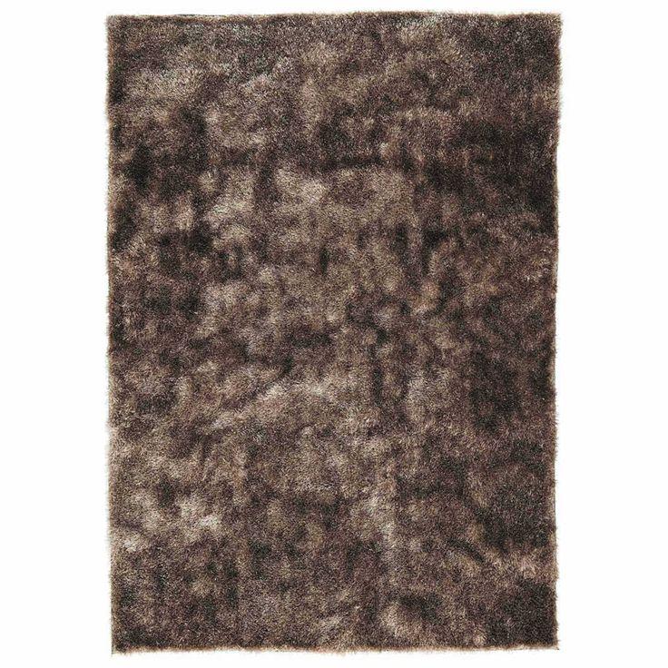 Beige LUMIERE stoffen tapijt 200 x 140 cm