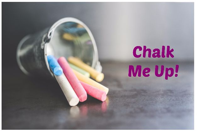 Chalk Me Up t-shirts are t-shirts that you can decorate yourself with chalk & the best part is they are re-usable, so you can design a new one every time.