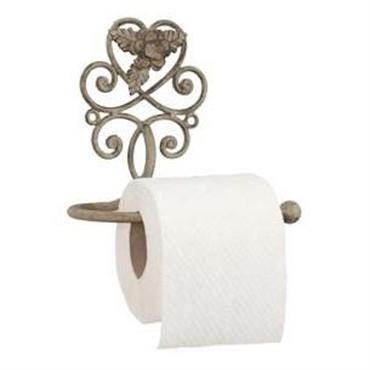 Køb her - smuk toiletrulleholder i romantisk fransk landstil og vintagestil hos Louis & Ludvig