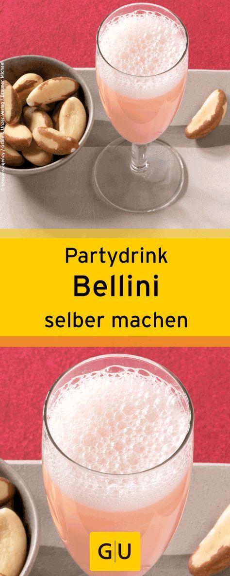 Silvester-Drink: Rezept für selbst gemachten Bellini. ⎜GU