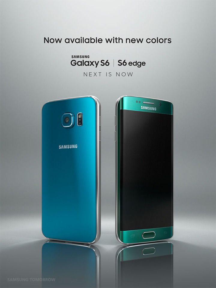 "Samsung Galaxy S6 & S6 edge: ""Blue Topaz"" and ""Green Emerald"""