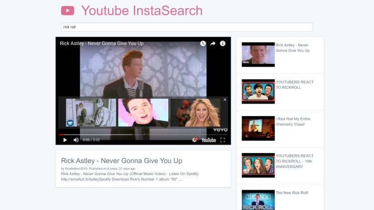 YouTube InstaSearch