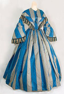 1860s Striped silk day dress, History Museum   Granger House Museum   Marion, Iowa   Fashion Forward