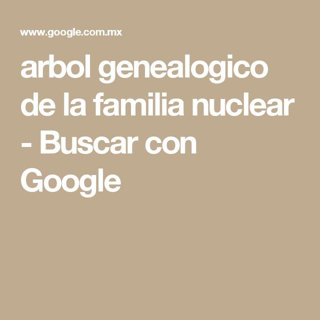 arbol genealogico de la familia nuclear - Buscar con Google