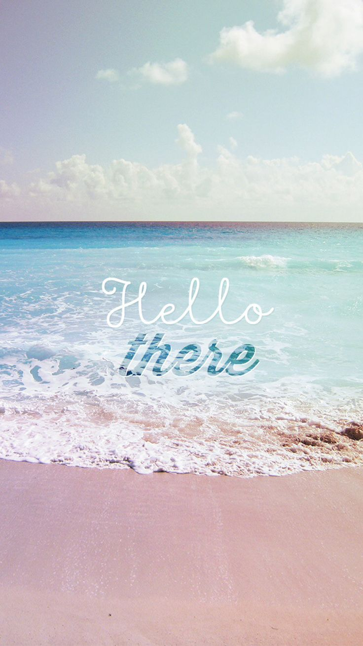 Hello There Summer Wave Beach IPhone 6 Wallpaper