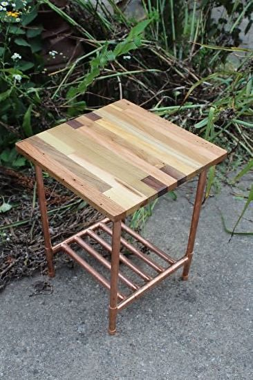 Copper Pipe Furniture 101 best copper & wood images on pinterest | pipes, wood and diy