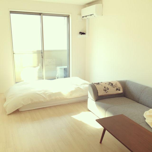 Nさんの、部屋全体,一人暮らし,ミニマリスト,のお部屋写真