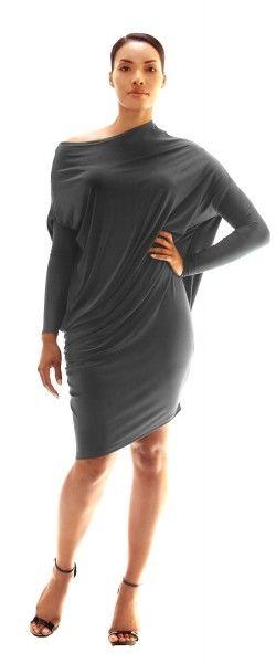 Queen-Latifah-Draped-Long-Sleeve-Tunic-Dress_1