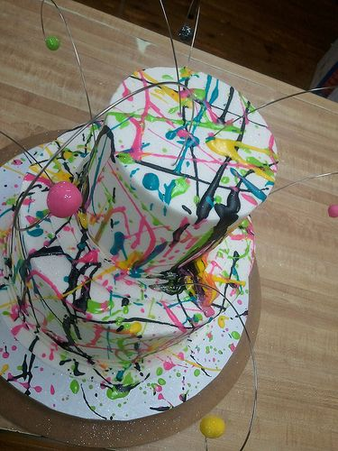 80's exploded birthday cake by Brittny Miller with Artisan Kitchen in Paducah, Ky