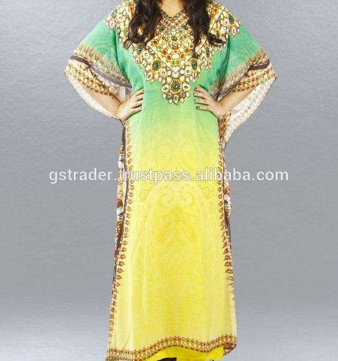 muslim long kaftan dress islamic dress floral digital printing Popular And Customer demand wedding and Party Wear