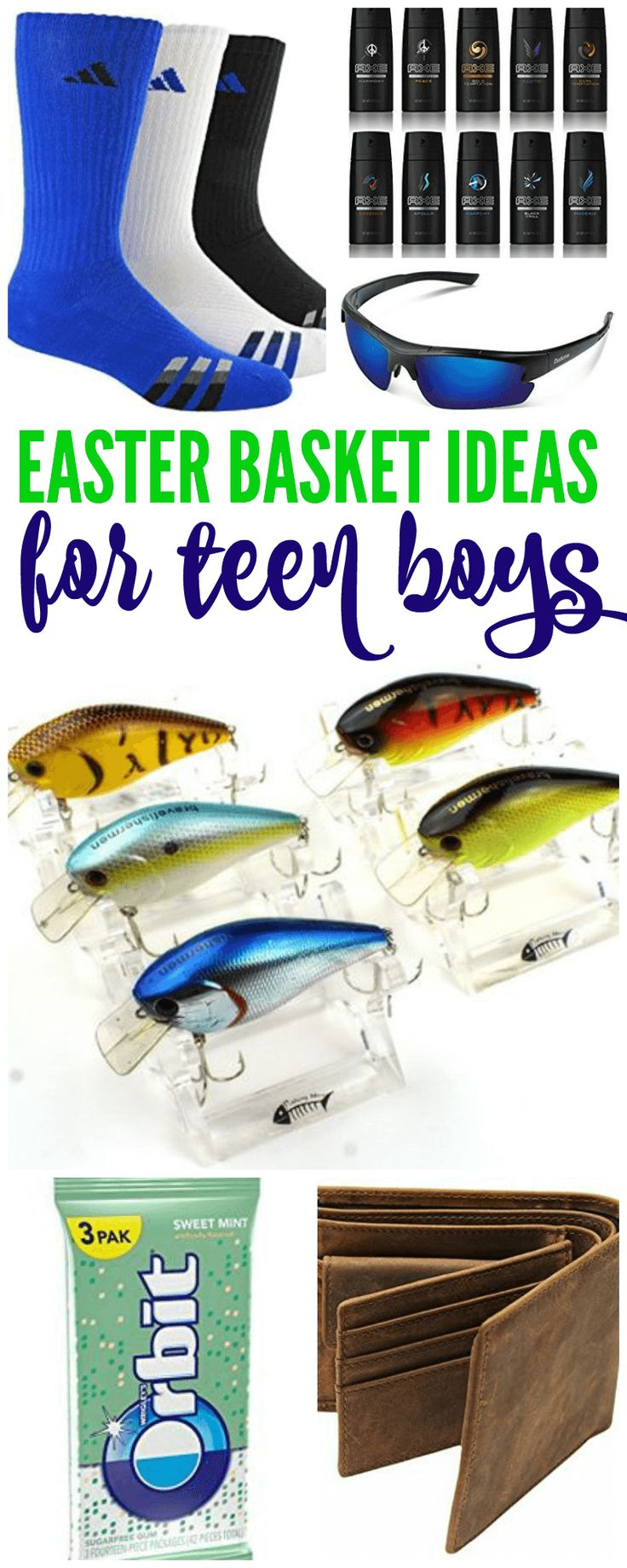 Teen Boys Easter Baskets! Things that your Teen Boys will love to get for Easter! Who says older kids can't have fun too!