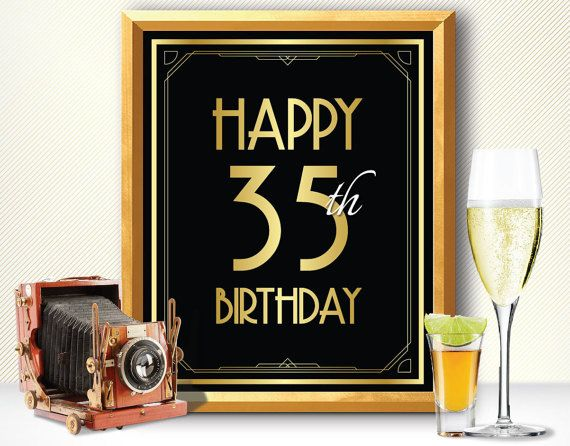 Happy 35th birthday 35th birthday decoration 35th birthday for 35th birthday decoration ideas