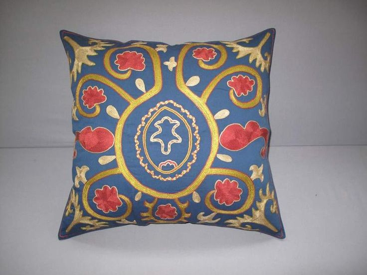 Cushion Covers – Uzbek handmade silk pillowcover, embroidery – a unique product by Eastern-gifts on DaWanda