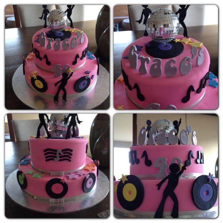 Graces 40th disco birthday cake
