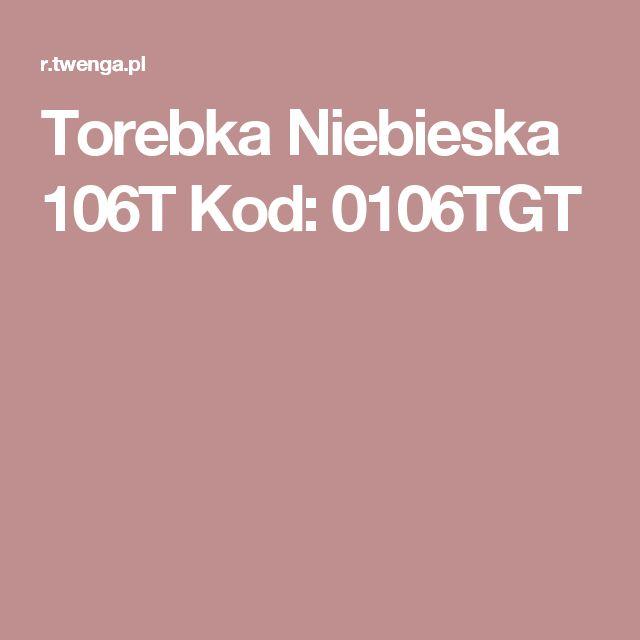 Torebka Niebieska 106T Kod: 0106TGT