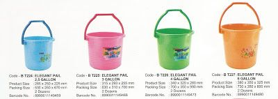 Selatan Jaya distributor barang plastik furnitur Surabaya Indonesia: Timba atau ember plastik Maspion 4 galon dan 6 gal...