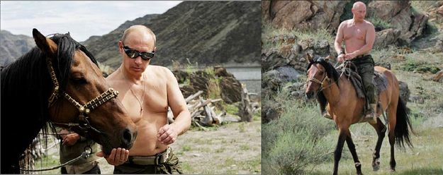 "Nothing says ""I'm very, very straight"" like a shirtless dude on a horse. 