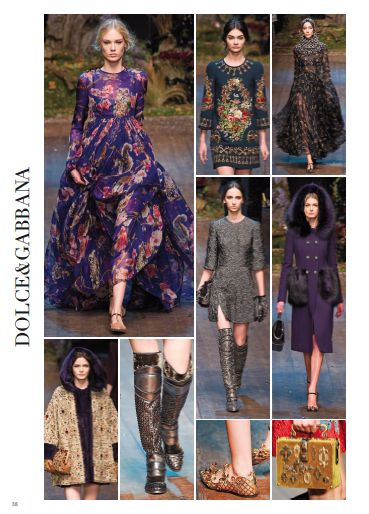 From Milan Fashion Show: DOLCE&GABBANA. #milan #catwalk #fashionshow #fashion #style #look #women #fall #winter #2014 #2015 #pretaporter #dolcegabbana @Dolce & Gabbana