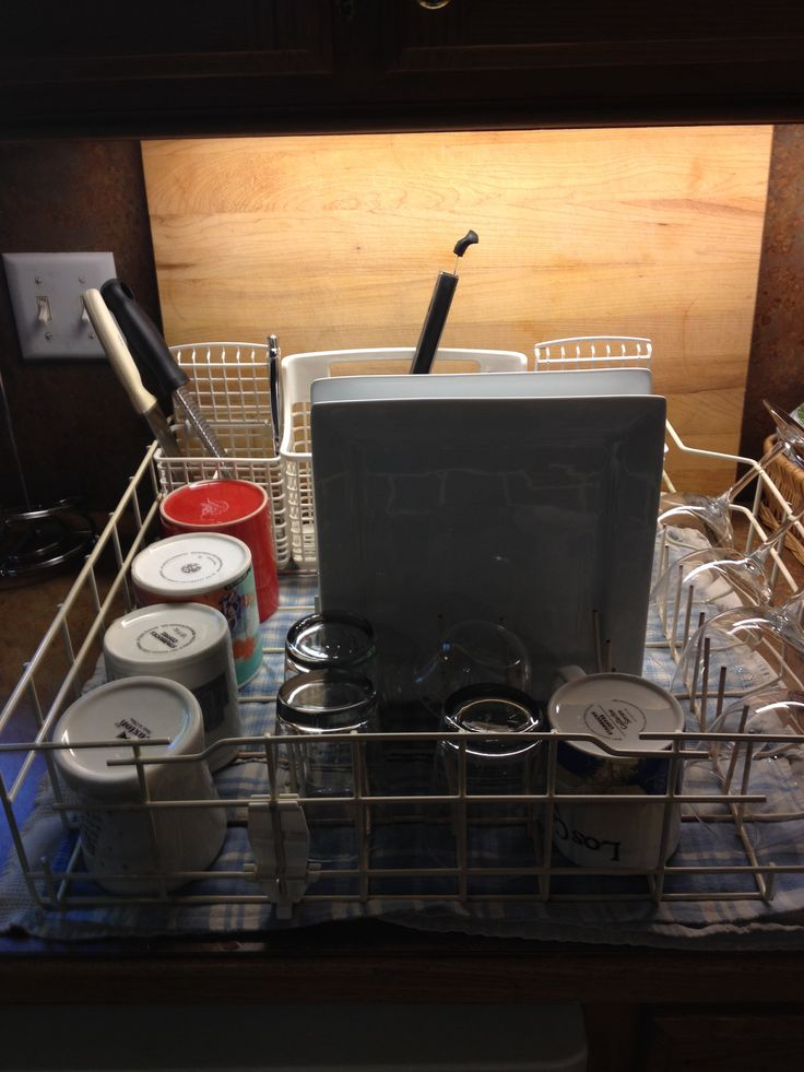 Old dishwasher die?  Repurpose the bottom rack into a jumbo drying rack.  Use it even after the new dishwasher is installed.