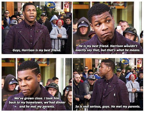 When he talked about how he was definitely friends with Harrison Ford. | 19 Times John Boyega Was So Damn Perfect It Was Almost Too Much
