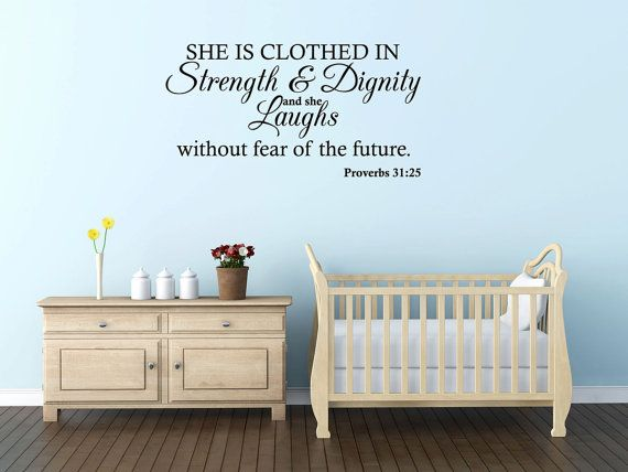 Best BIBLE VERSES DECALS Images On Pinterest Bible Verses - Bible verse nursery wall decals