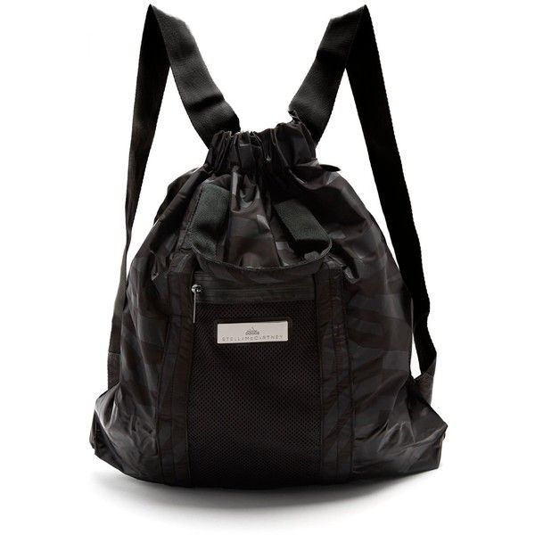 Adidas By Stella McCartney Gym backpack ($96) ❤ liked on Polyvore featuring bags, backpacks, adidas, adidas backpack, convertible tote backpack, zipper pouch and zippered tote bag